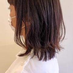 ヘアカット レイヤーカット ナチュラル セミロング ヘアスタイルや髪型の写真・画像