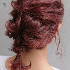 簡単ヘアアレンジ ヘアアレンジ ナチュラル 編み込み ヘアスタイルや髪型の写真・画像