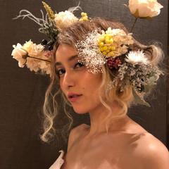 結婚式 ブライダル 福岡市 ロング ヘアスタイルや髪型の写真・画像