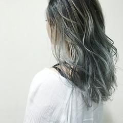 モード 外国人風 グラデーションカラー アッシュ ヘアスタイルや髪型の写真・画像