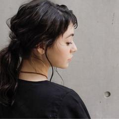 外国人風 ワイドバング ヘアアレンジ ショート ヘアスタイルや髪型の写真・画像