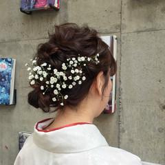 ヘアアレンジ ミディアム フェミニン 大人かわいい ヘアスタイルや髪型の写真・画像
