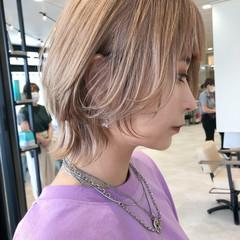 ウルフ ショート ストリート ブリーチカラー ヘアスタイルや髪型の写真・画像