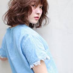ストリート マルサラ ミディアム 大人かわいい ヘアスタイルや髪型の写真・画像