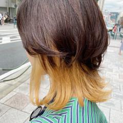ナチュラル レイヤースタイル ブリーチカラー レイヤーカット ヘアスタイルや髪型の写真・画像