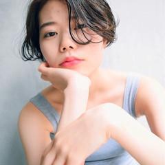 ショート ピュア 黒髪 パーマ ヘアスタイルや髪型の写真・画像