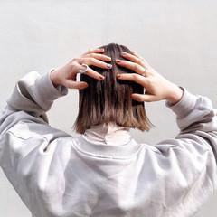 インナーカラー ミニボブ ボブ 外ハネボブ ヘアスタイルや髪型の写真・画像