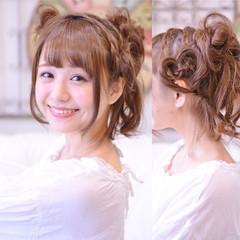 かわいい デート ヘアアレンジ セミロング ヘアスタイルや髪型の写真・画像
