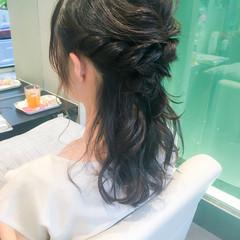ヘアアレンジ パーティ ハーフアップ フェミニン ヘアスタイルや髪型の写真・画像