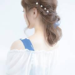 ヘアピン 波ウェーブ ロング 簡単ヘアアレンジ ヘアスタイルや髪型の写真・画像