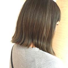外国人風 透明感 アッシュ ハイライト ヘアスタイルや髪型の写真・画像