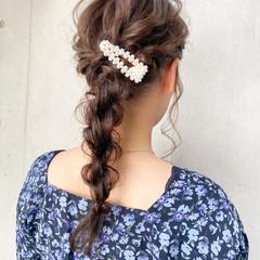 ゆるふわセット 愛され 編みおろし デジタルパーマ ヘアスタイルや髪型の写真・画像