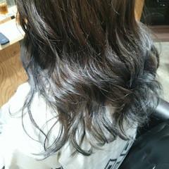 外国人風 グラデーションカラー ストリート ネイビー ヘアスタイルや髪型の写真・画像