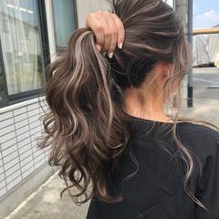 グラデーションカラー バレイヤージュ 大人ハイライト ロング ヘアスタイルや髪型の写真・画像