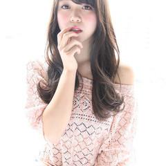 大人かわいい ガーリー フェミニン ロング ヘアスタイルや髪型の写真・画像