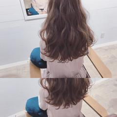 小顔 フリンジバング ニュアンス デート ヘアスタイルや髪型の写真・画像