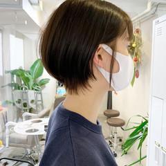 ショートボブ ショート ハンサムショート ショートヘア ヘアスタイルや髪型の写真・画像