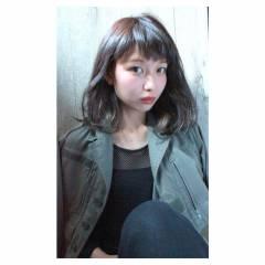 春 モード 黒髪 ミディアム ヘアスタイルや髪型の写真・画像