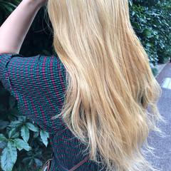 ブリーチ ロング ホワイトブリーチ 大人ロング ヘアスタイルや髪型の写真・画像