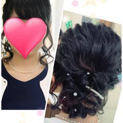 セミロング 女子会 デート ヘアアレンジ ヘアスタイルや髪型の写真・画像