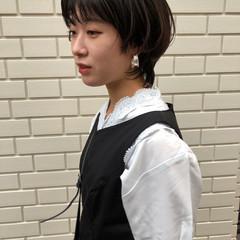 ショートボブ モード ショートヘア ウルフパーマヘア ヘアスタイルや髪型の写真・画像