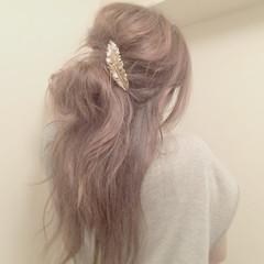 ヘアアレンジ ロング ゆるふわ お団子 ヘアスタイルや髪型の写真・画像