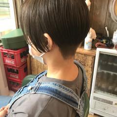 ベリーショート ショート ハンサムショート ナチュラル ヘアスタイルや髪型の写真・画像