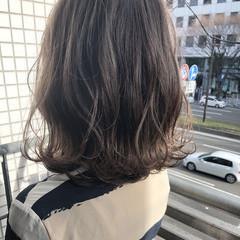 フェミニン ハイライト 外国人風 ボブ ヘアスタイルや髪型の写真・画像