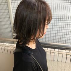 ナチュラルウルフ ナチュラル 透明感カラー ミディアム ヘアスタイルや髪型の写真・画像