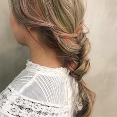ヘアアレンジ ロング ストリート 透明感 ヘアスタイルや髪型の写真・画像