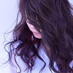 ヘアマニキュア セミロング エレガント 上品 ヘアスタイルや髪型の写真・画像