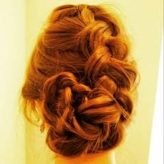 ゆるふわ ナチュラル ヘアアレンジ 編み込み ヘアスタイルや髪型の写真・画像