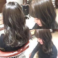 春 ロング 外国人風 グラデーションカラー ヘアスタイルや髪型の写真・画像