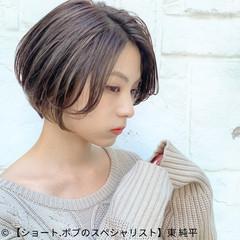 インナーカラー ショートヘア ショート ナチュラル ヘアスタイルや髪型の写真・画像
