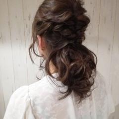 謝恩会 デート ナチュラル ミディアム ヘアスタイルや髪型の写真・画像