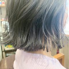 ショートヘア ベリーショート インナーカラー セミロング ヘアスタイルや髪型の写真・画像