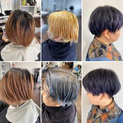 シルバーグレージュ シルバーグレー ショート ベリーショート ヘアスタイルや髪型の写真・画像