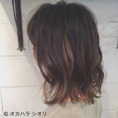 モード 外国人風 ハイライト グレーアッシュ ヘアスタイルや髪型の写真・画像