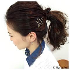 セルフヘアアレンジ ヘアアレンジ ヘアアクセ ヘアピン ヘアスタイルや髪型の写真・画像