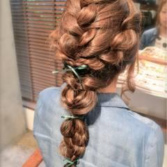 ロング ストリート 女子会 ヘアアレンジ ヘアスタイルや髪型の写真・画像