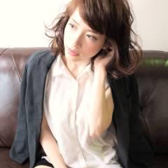 ミディアム コンサバ モテ髪 かっこいい ヘアスタイルや髪型の写真・画像