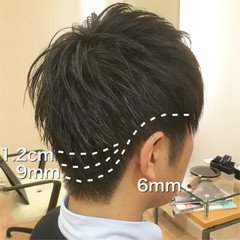 刈り上げ メンズ 束感 オフィス ヘアスタイルや髪型の写真・画像
