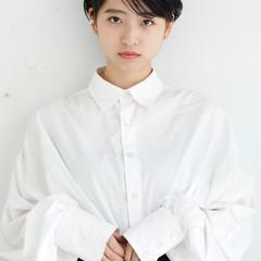 黒髪 ショート パーマ モード ヘアスタイルや髪型の写真・画像