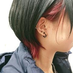 ストリート ウルフカット ショート デザインカラー ヘアスタイルや髪型の写真・画像