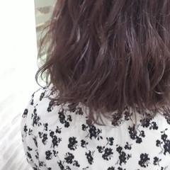 夏 パープル ガーリー ブリーチ ヘアスタイルや髪型の写真・画像