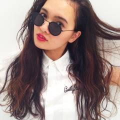 ロング ウェットヘア ウェーブ 外国人風 ヘアスタイルや髪型の写真・画像