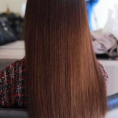 最新トリートメント ナチュラル 縮毛矯正 デート ヘアスタイルや髪型の写真・画像