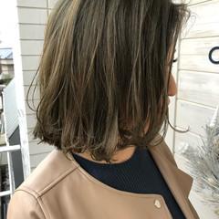 ボブ フェミニン ミディアム ヘアアレンジ ヘアスタイルや髪型の写真・画像
