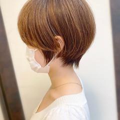 ショートボブ ショートヘア ナチュラル 大人かわいい ヘアスタイルや髪型の写真・画像