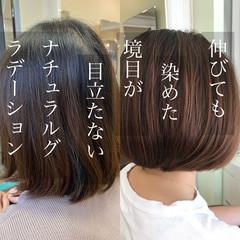 大人可愛い 大人カラー 大人ハイライト お手入れ簡単!! ヘアスタイルや髪型の写真・画像